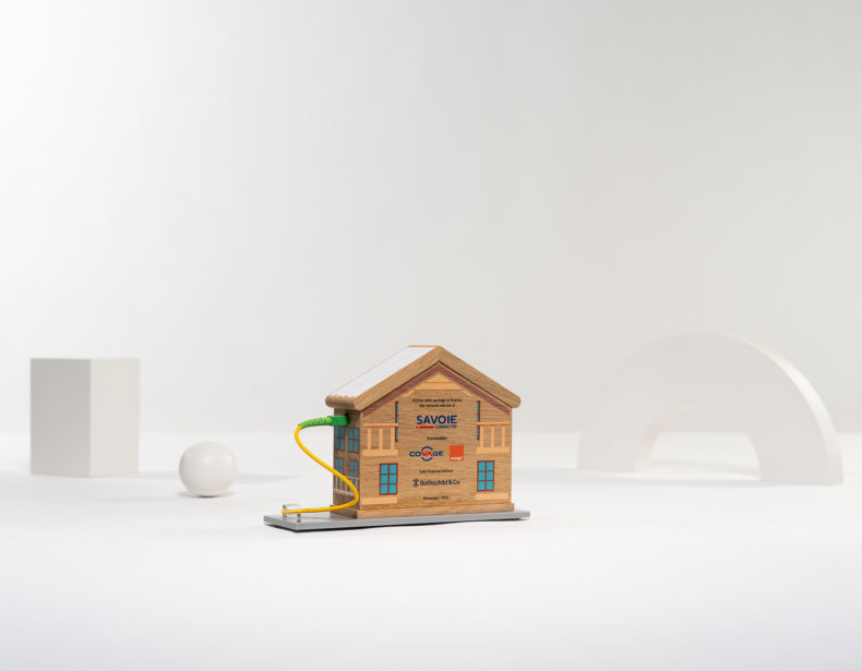 E01 : Wood and plexiglas bespoke deal toy
