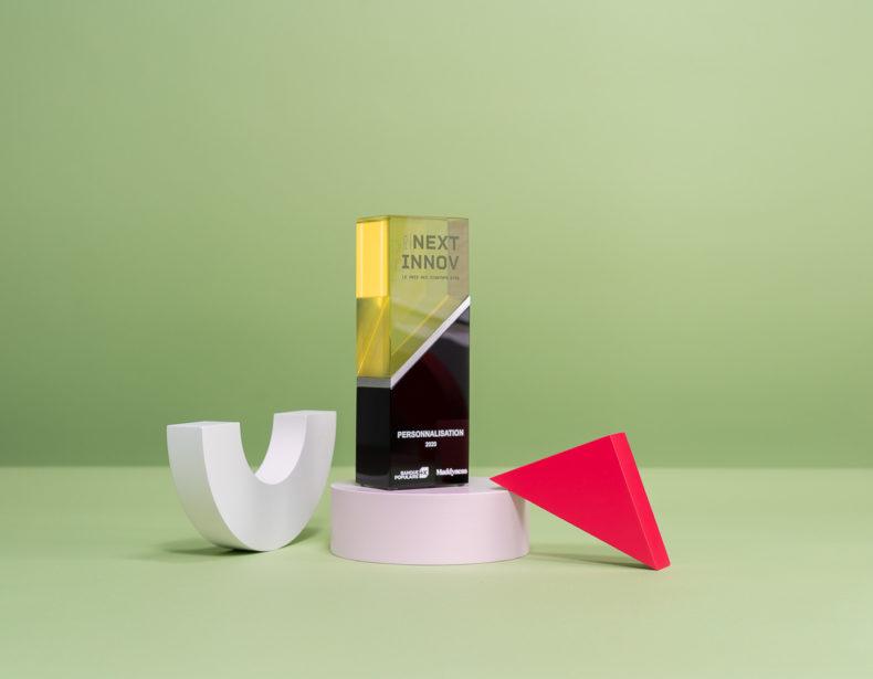 V01 : Trophée en verre sur mesure