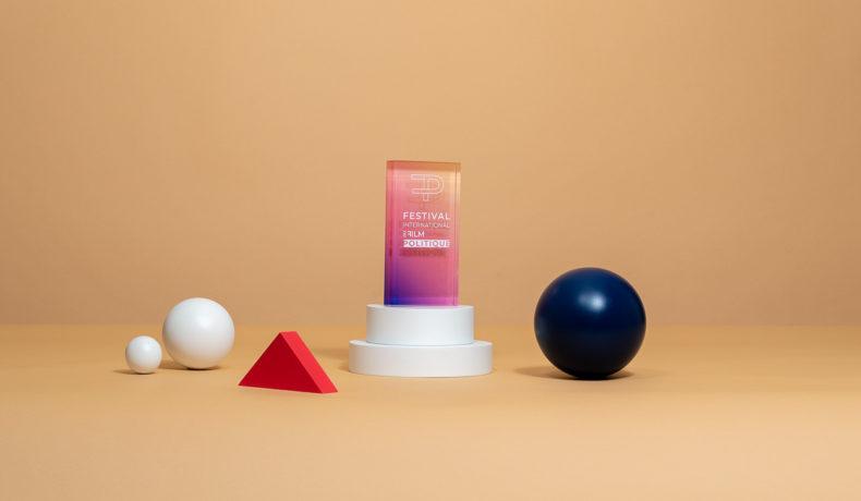 V05 : Trophée rectangulaire en cristal